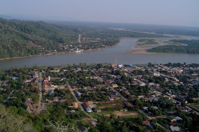 View of Rurrenabaque, Beni and San Buenaventura, La Paz from the cross in Rurre - Department of Beni!